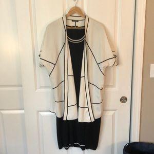 Sophisticated designer dress & cardigan jacket